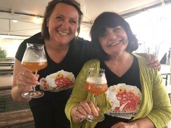 Anne Catherine Sailly et Elisabeth Pierre au lancement de la bière Bierissima à Nantes au Bierfest
